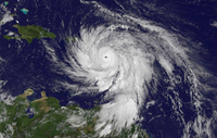 Image of Category 5 Hurricane Maria moving through the eastern Caribbean Sea, taken on Sept. 19 at 11 a.m. EDT from NOAA's GOES East satellite.