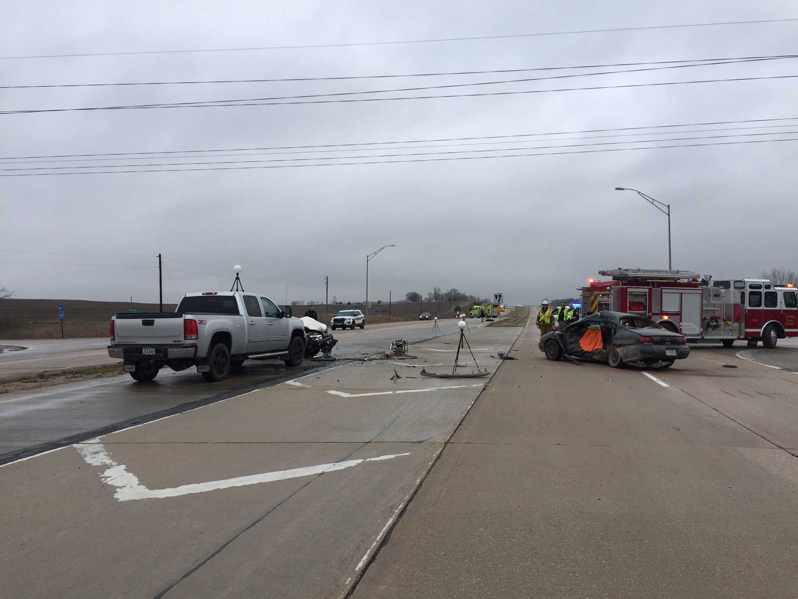 Driver killed in 3-vehicle collision, Nebraska officials say