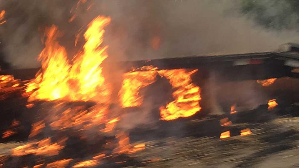 Car fire onInterstate 79