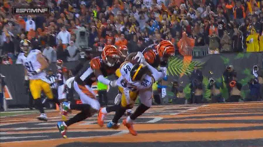 George Iloka hits Antonio Brown