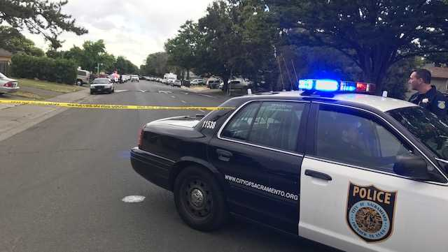 Officers are in a standoff Sunday, June, 11, 2017, with a man barricaded inside of a south Sacramento home, the Sacramento Police Department said.