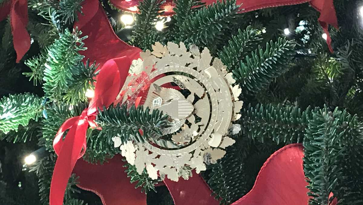 Christmas decorations adorn white house
