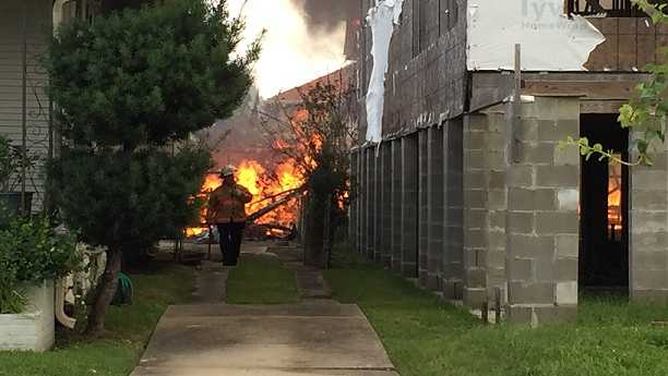 New Orleans firefighters battle blaze in Broadmoor neighborhood.