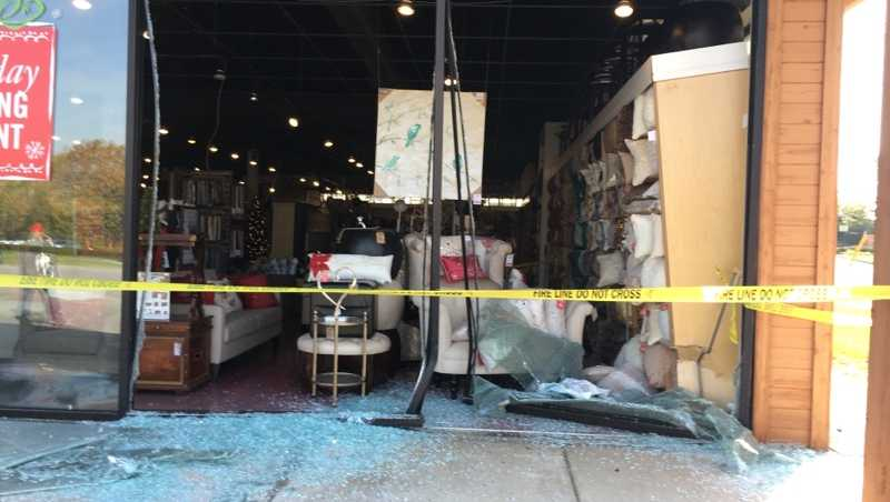Car crashes into Pier 1 Imports