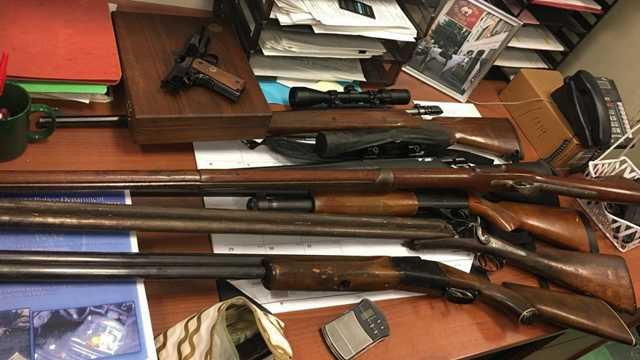 guns found in hit-and-run suspect's car