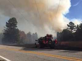 Fire near Highway 59