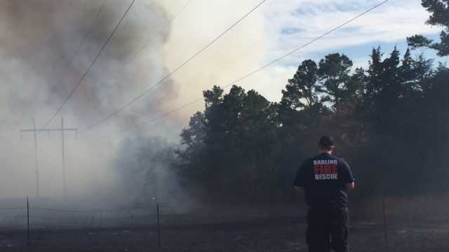 Fire near Highway 96