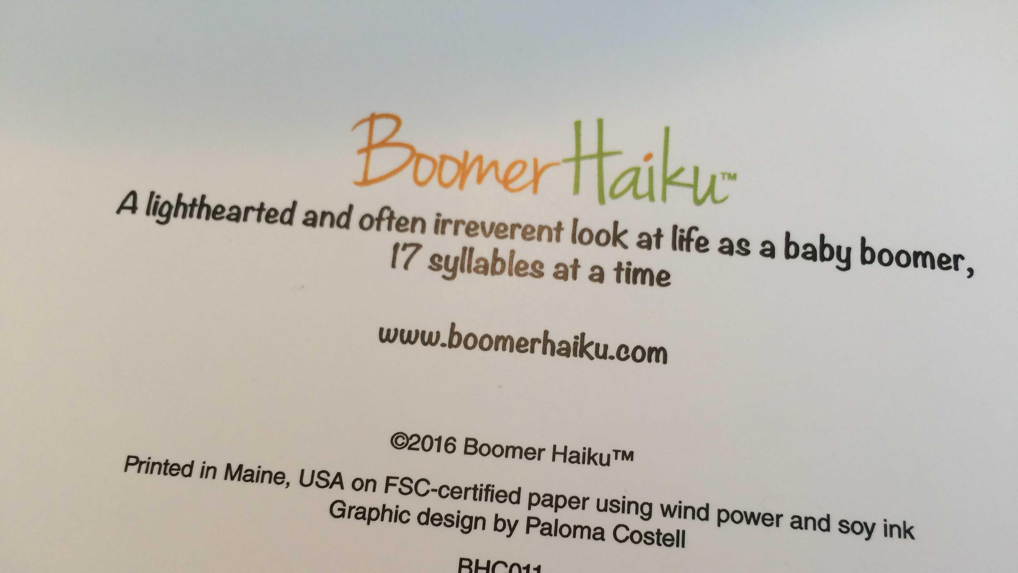 Boomer Haiku Greeting Cards