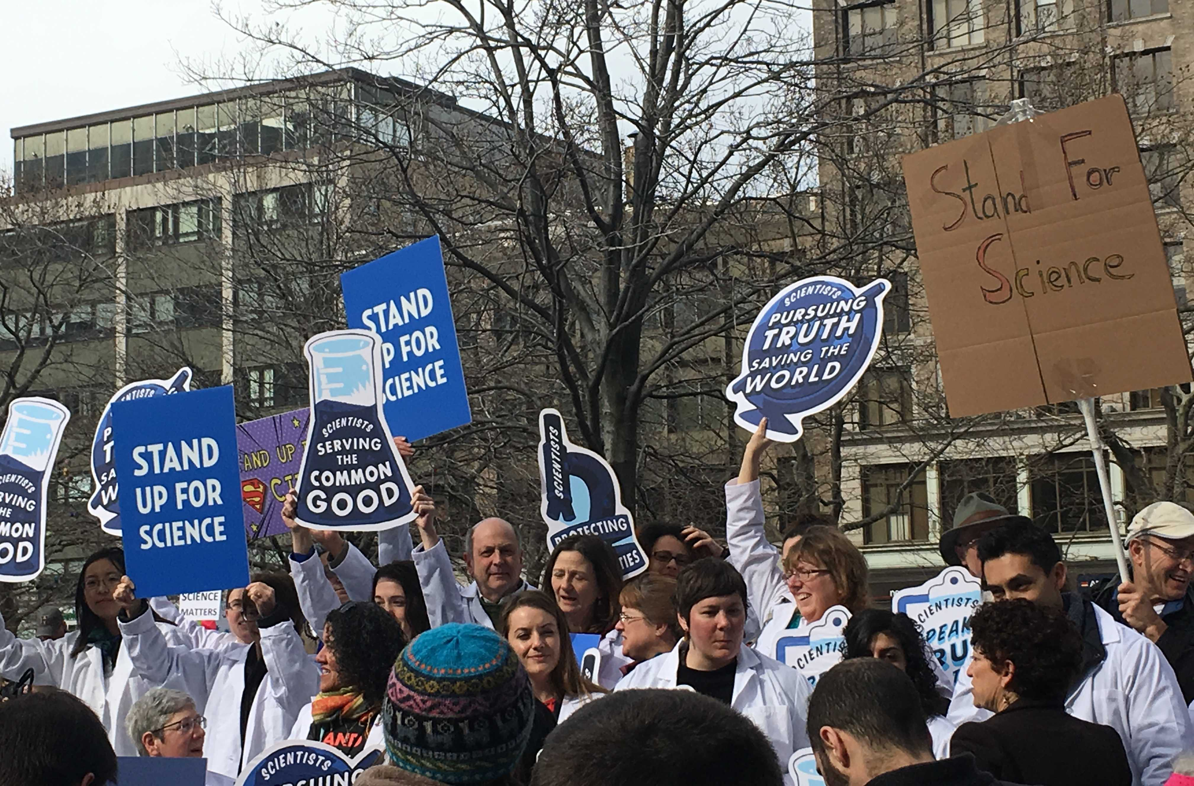 Stand up for science rally