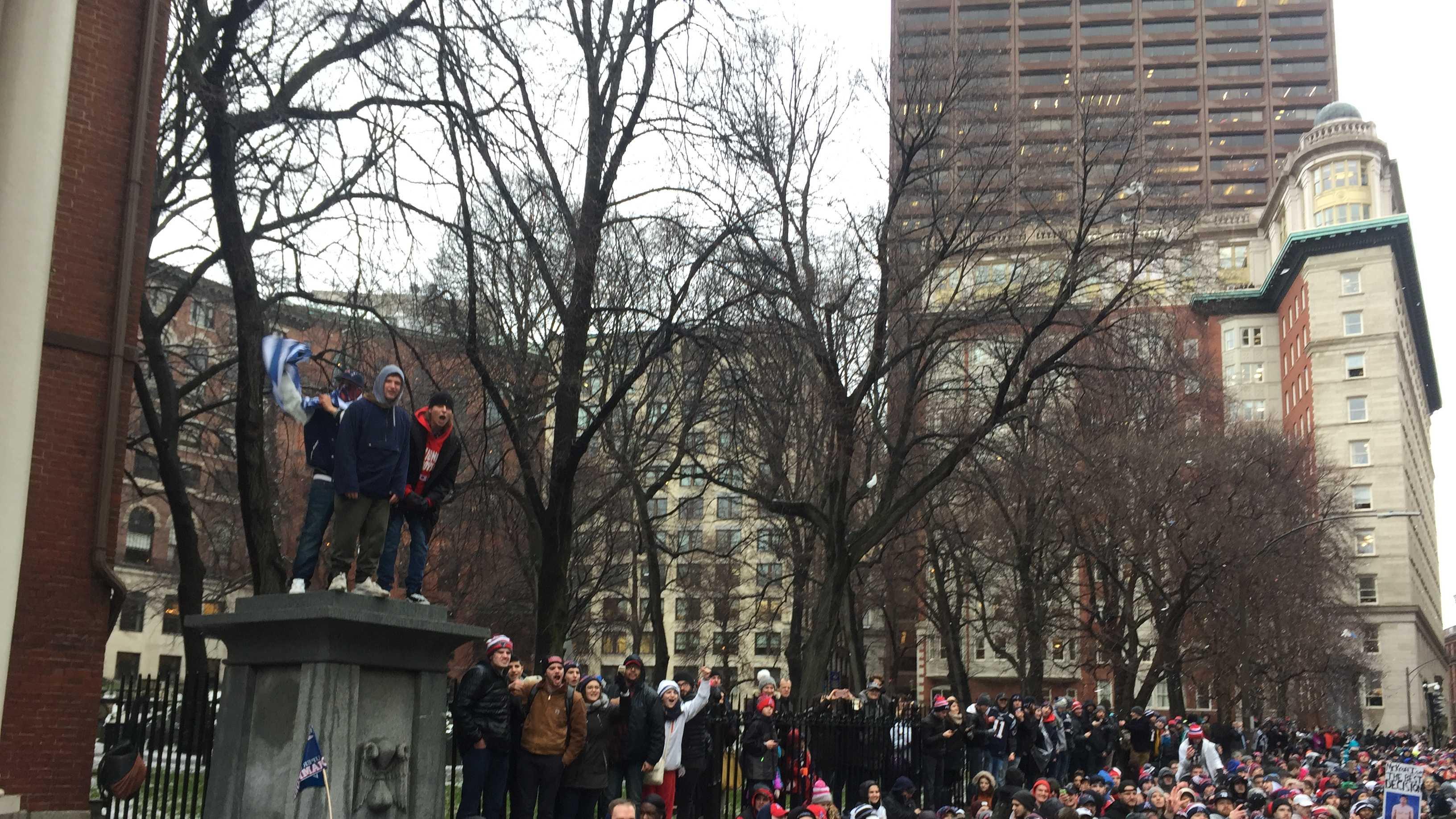 Patriots parade