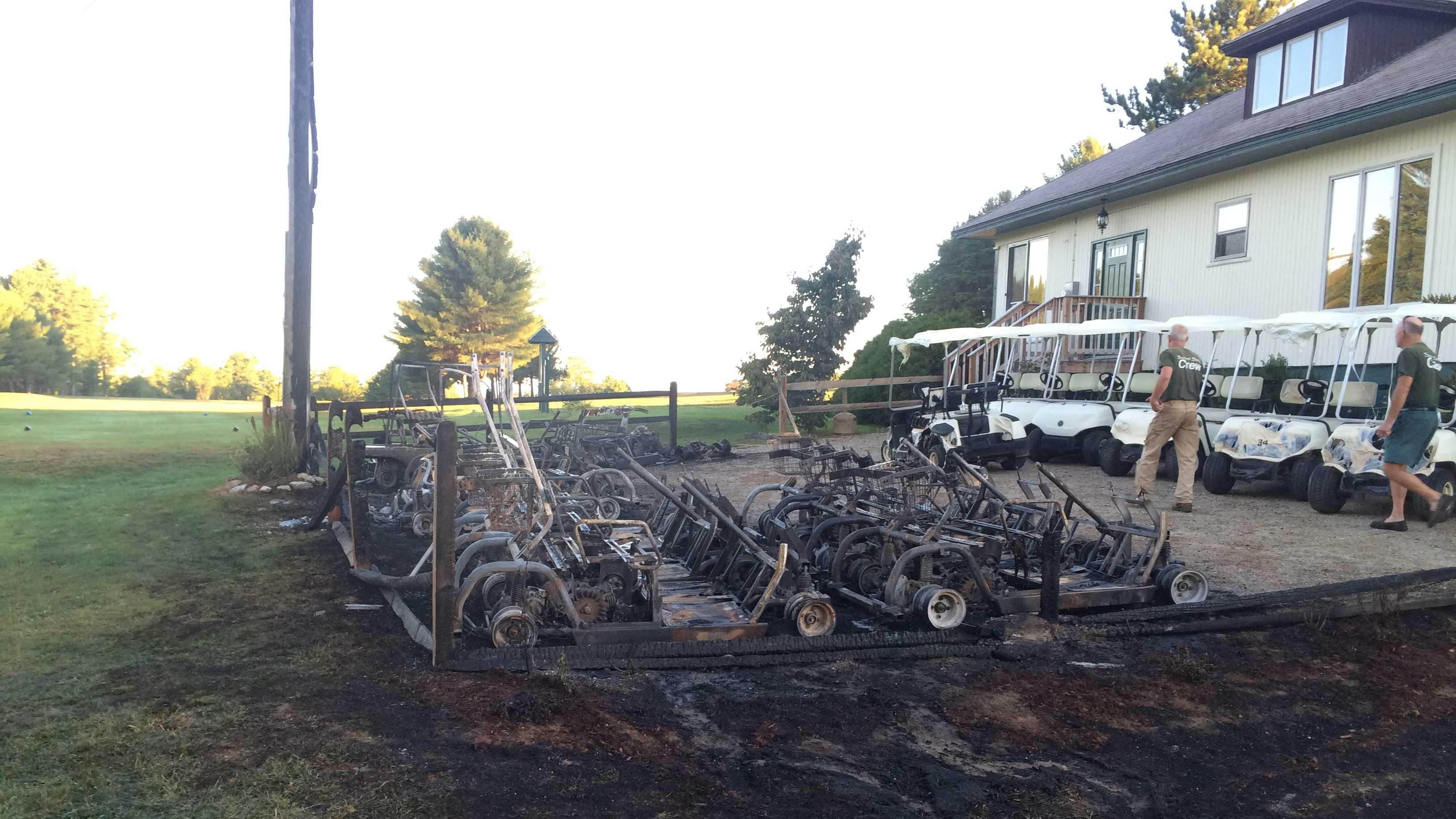 Summit Spring golf carts vandalized