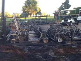 Summit Spring golf carts vandalized