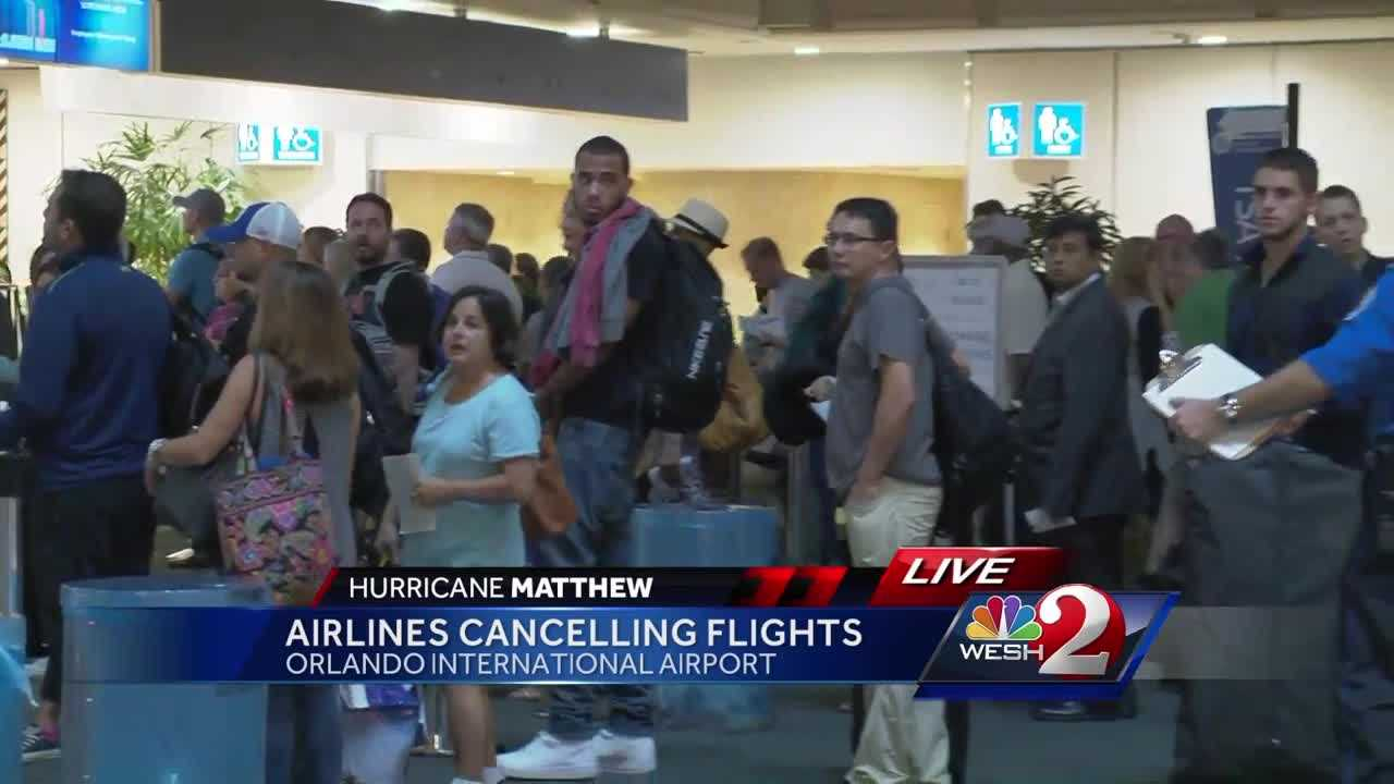 Airlines cancel hundreds of flights as hurricane hits US