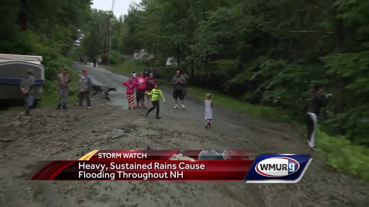 Heavy rain prompts road closures, campsite evacuations