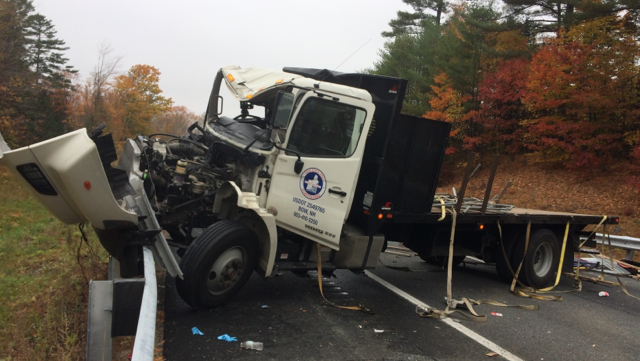 Tractor-trailer crash on I-89 closes highway
