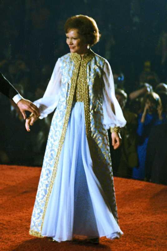 Rosalynn Carter at the 1977 inaugural ball.
