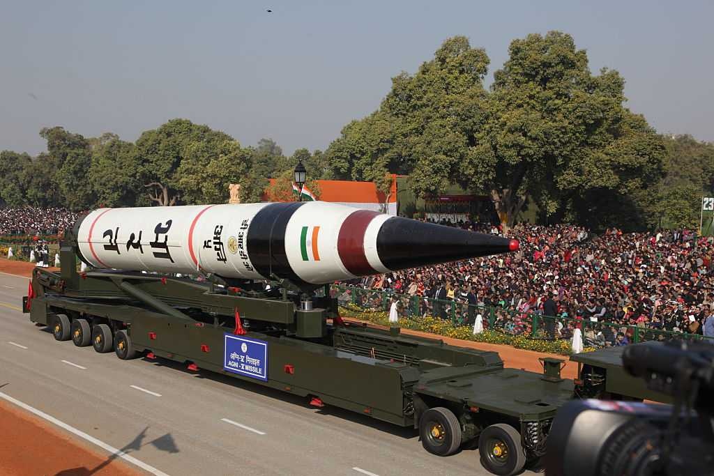 India test-fires ICBM Agni-V