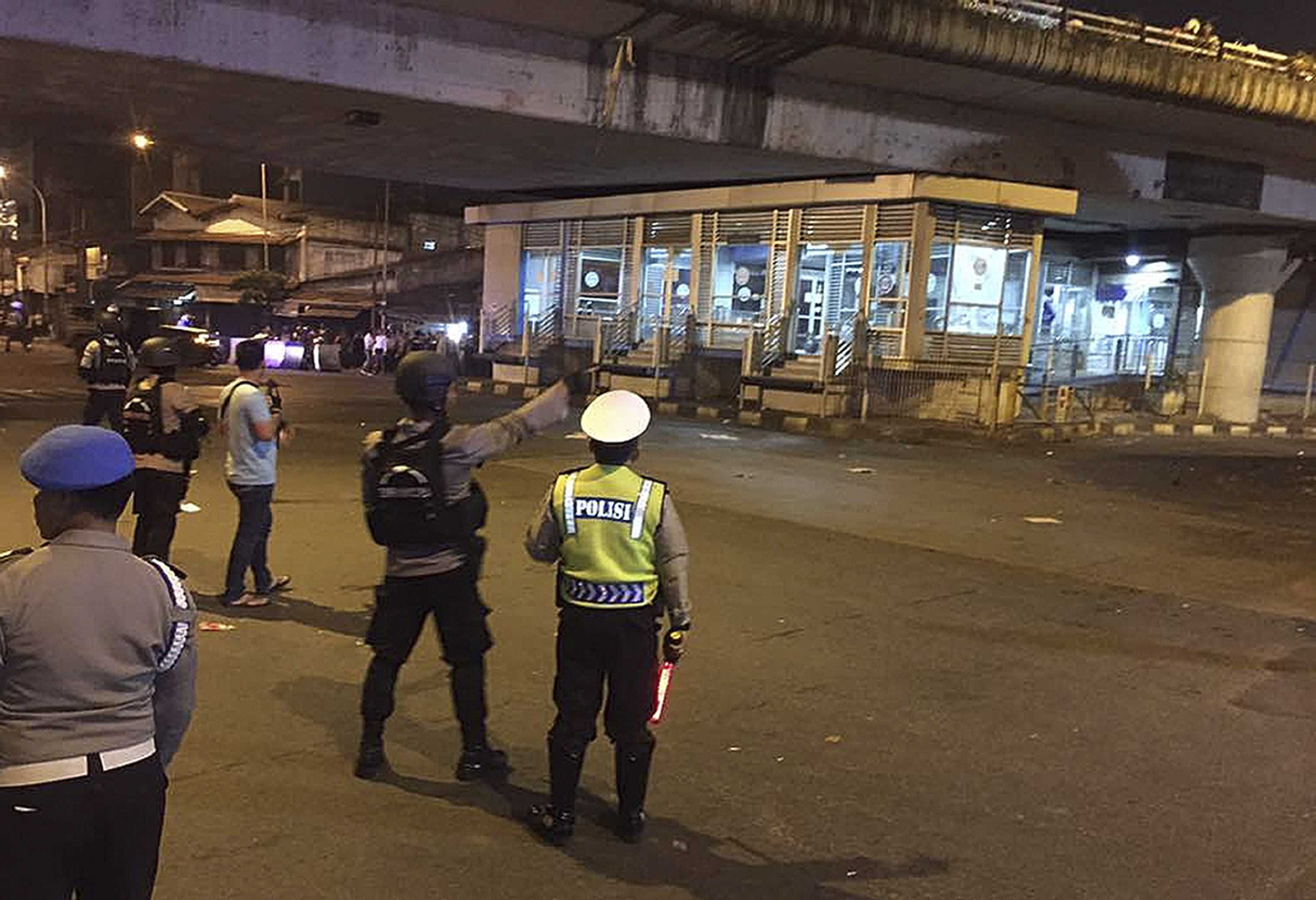 At least one dead after two blasts at Jakarta bus terminal