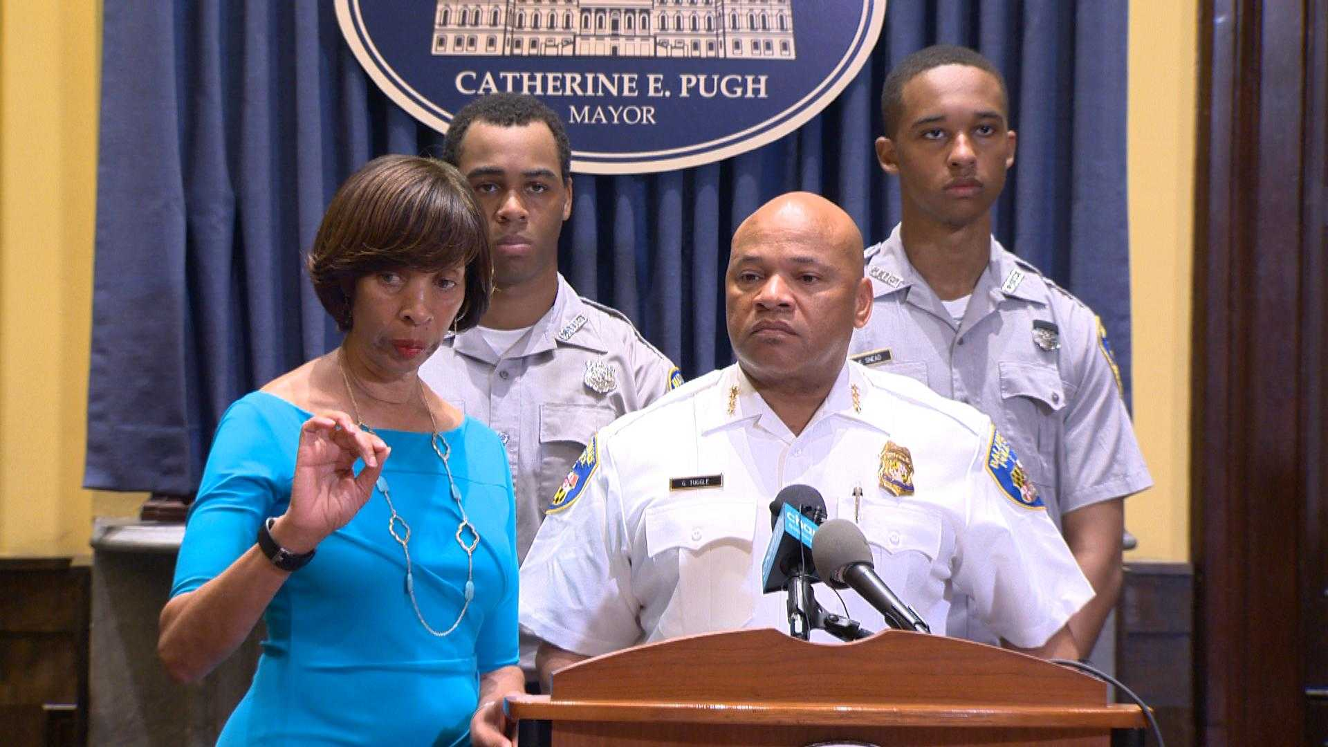 Baltimore interim police commissioner, mayor discuss plans to increase foot patrol officers