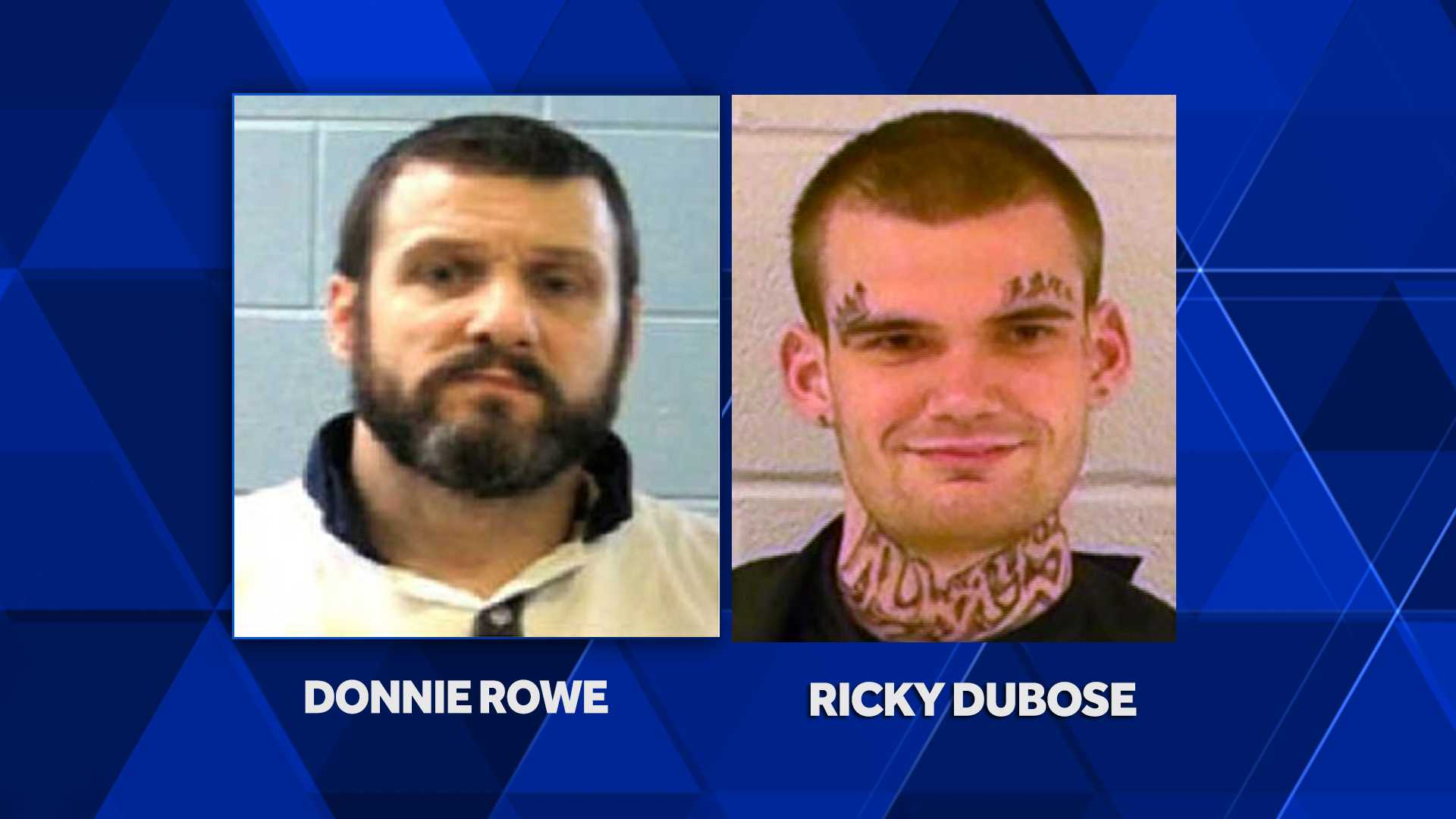 Escaped Georgia inmates Rowe and Dubose