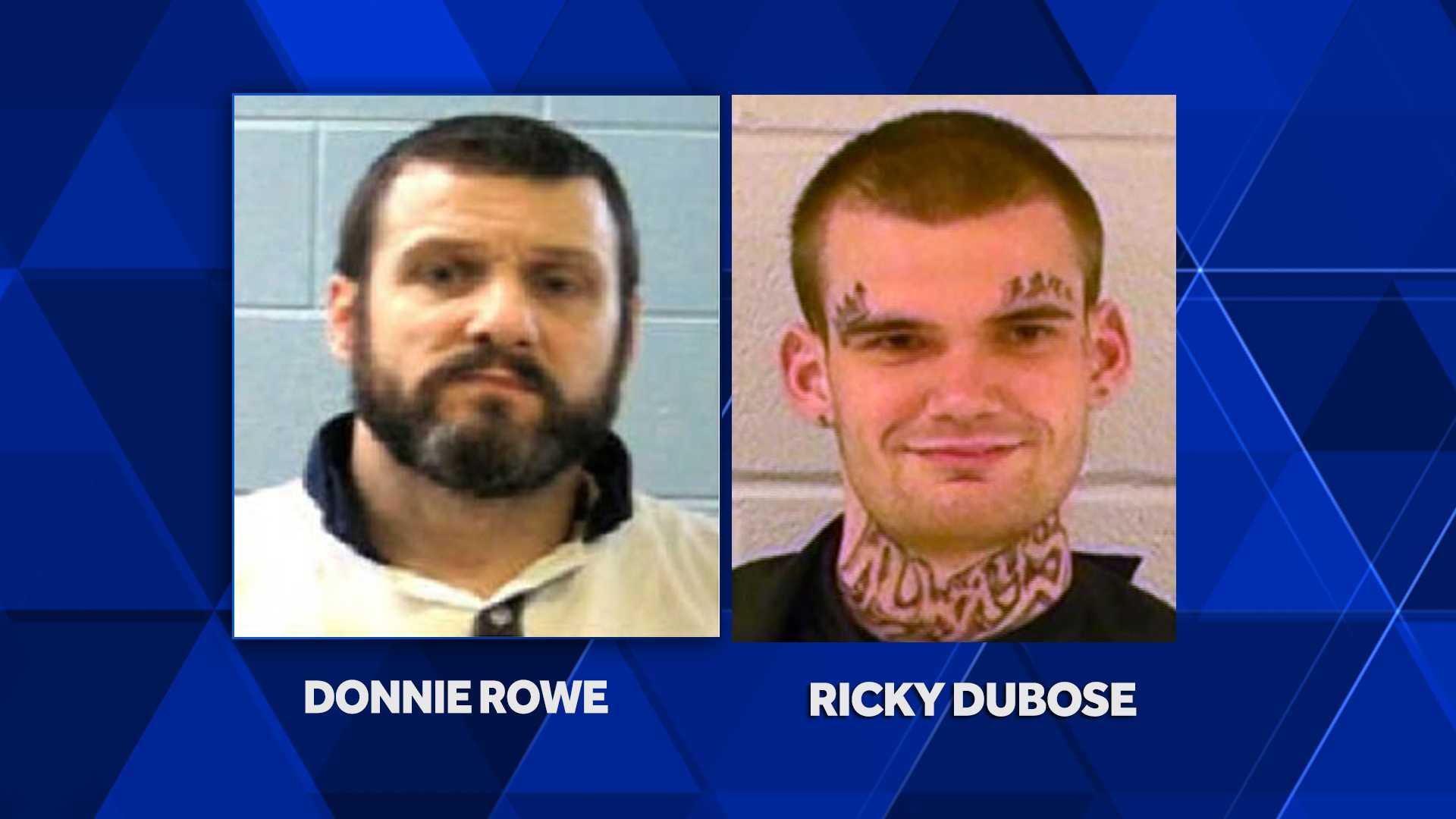 Escaped Georgia inmates Rowe and Dubose