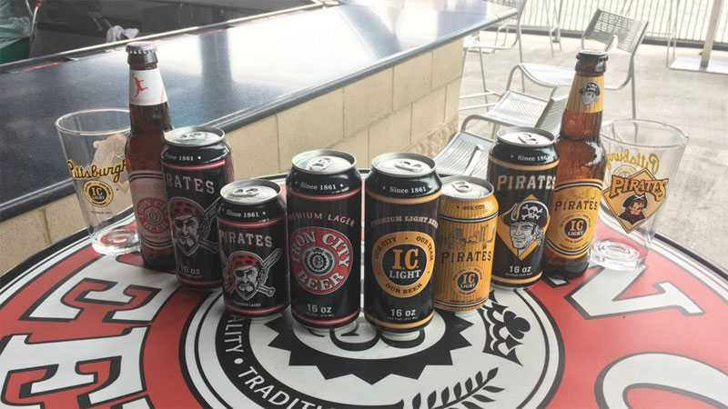 Iron City Beer has a line of Pittsburgh Pirates-themed cans and bottles.