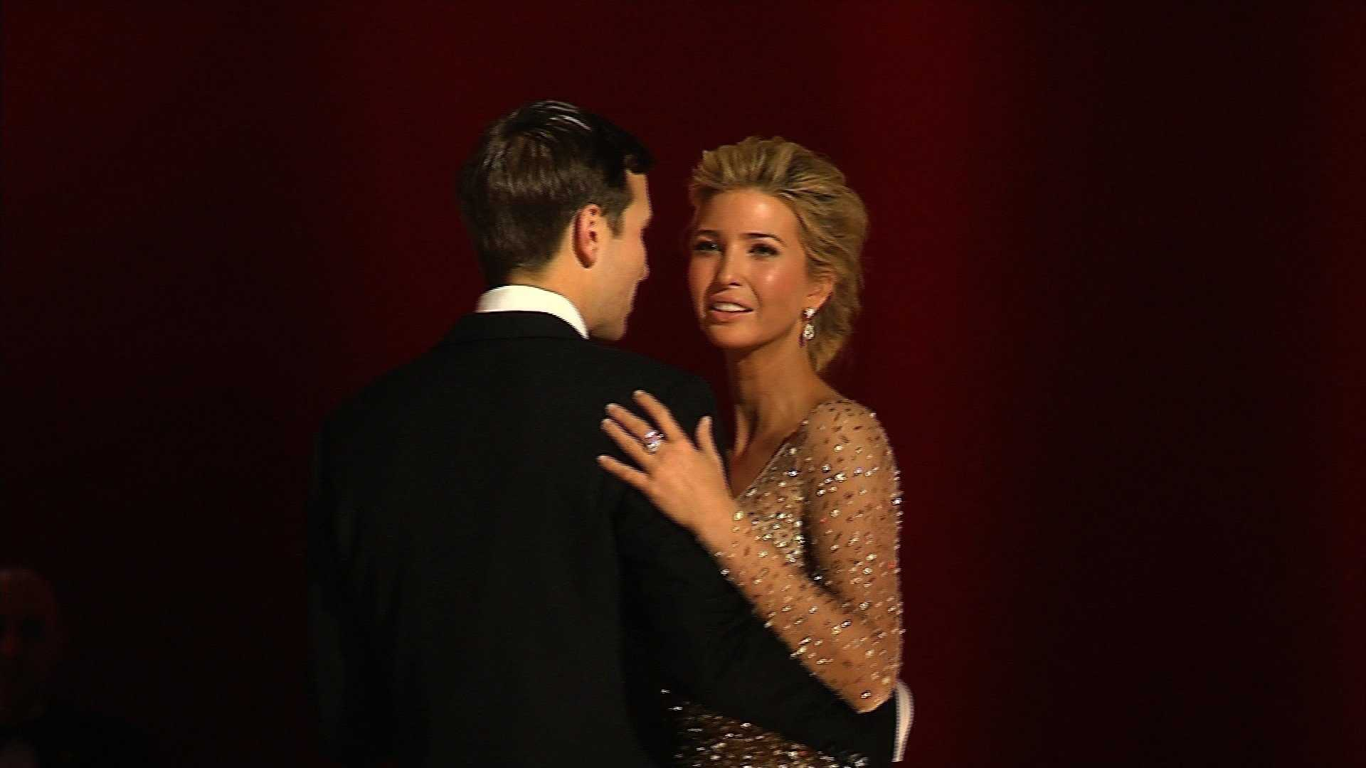 Ivanka Trump dances with husband Jared Kushner at the inaugural ball on January 20, 2017