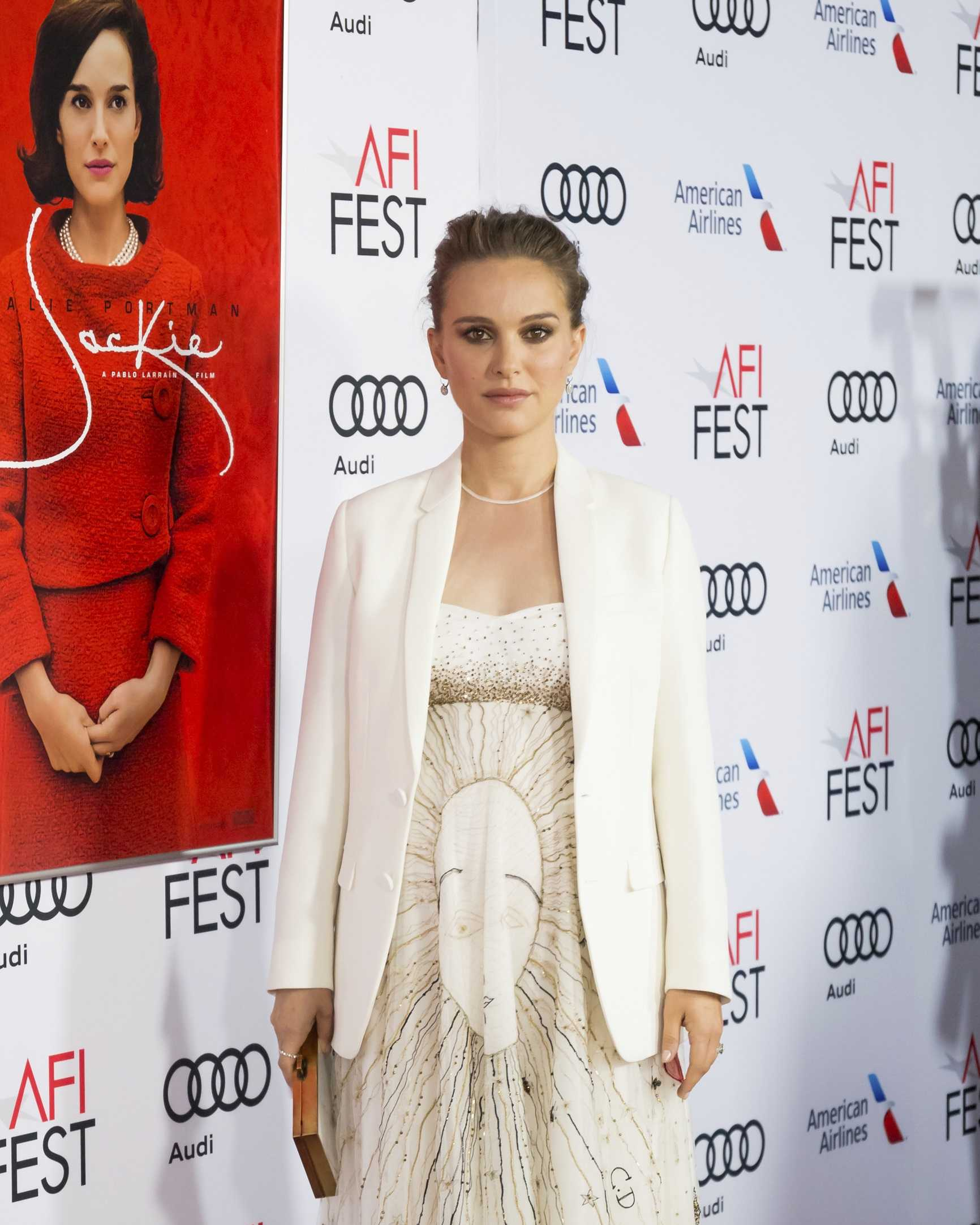 "Actress Natalie Portman arrives at the 2016 AFI Festival ""Jackie"" Centerpiece Gala at the TCL Chinese Theatre on Monday, Nov. 14, 2016, in Los Angeles."