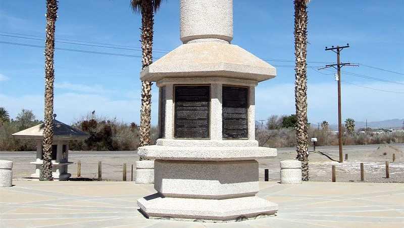 Japanese Internment Camp Memorial in Poston, Arizona.