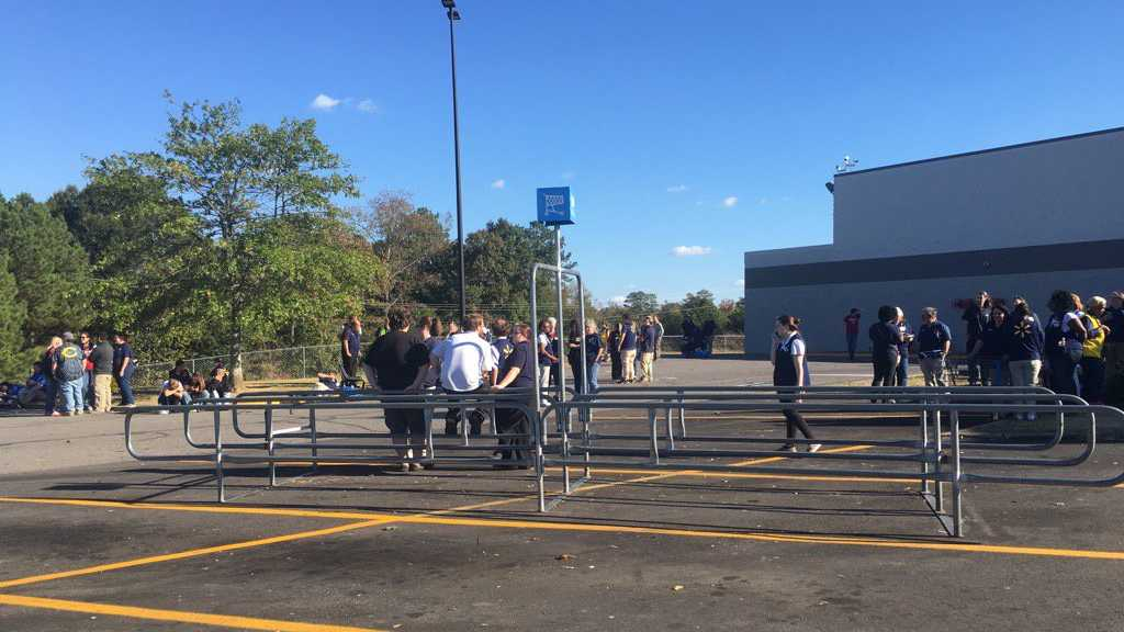 The Walmart store in Jasper was evacuated Friday afternoon over ventilation issues with a floor stripper.