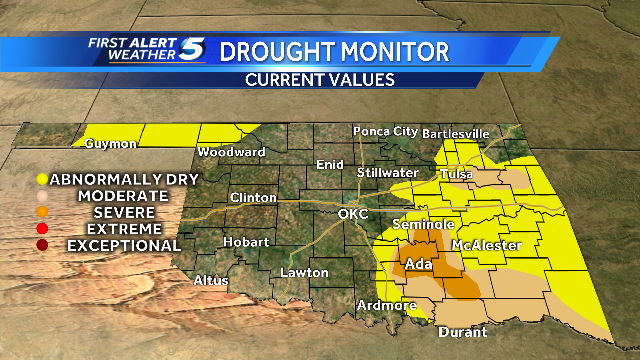 Oklahoma drought levels.