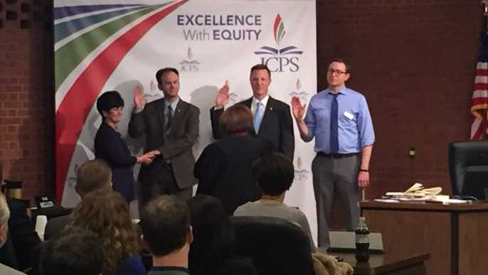 New JCPS board members sworn in at meeting