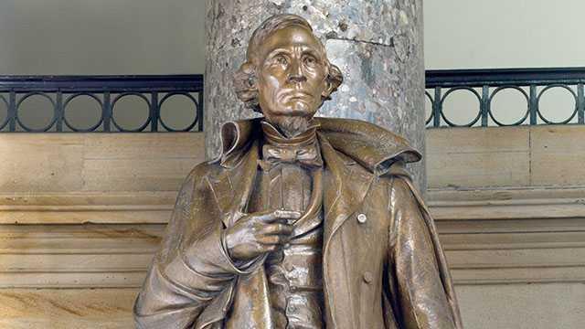 Jefferson Davis statue at U.S. Capitol