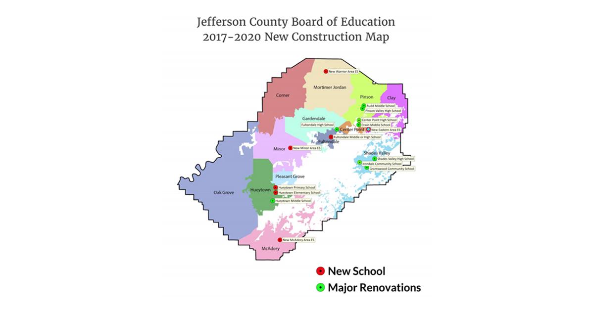 Jefferson County BOE plans to build new 38 million Fultondale High