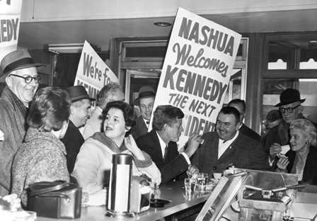 John F. Kennedy makes a campaign stop in Nashua, N.H.