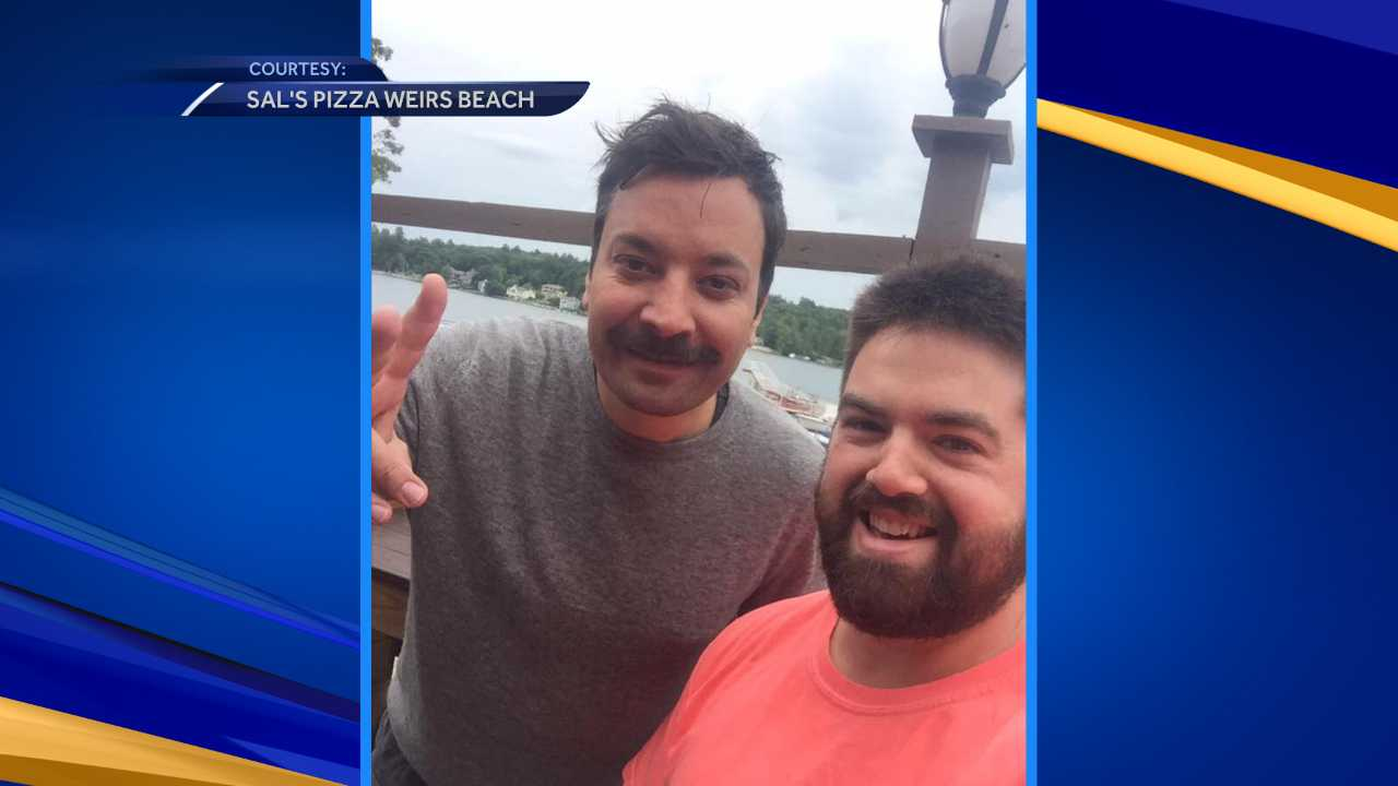 Jimmy Fallon visits Laconia pizza shop