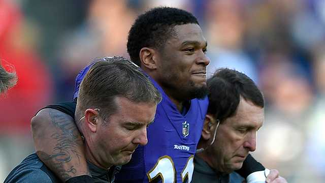 Jimmy Smith injured during Detroit Lions game