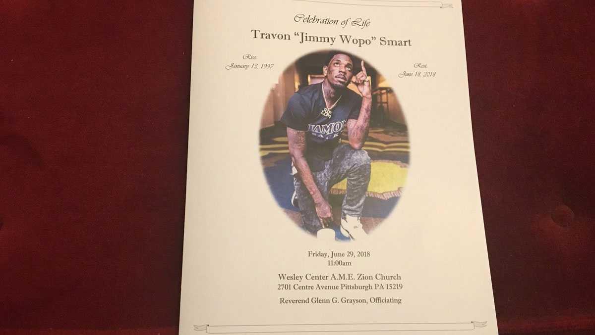 Jimmy Wopo funeral program