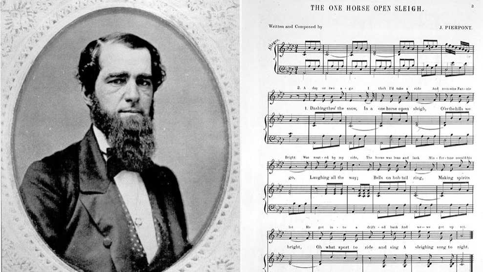 James Pierpont and sheet music for Jingle Bells