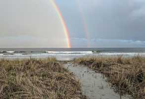 Rainbow across southern Maine