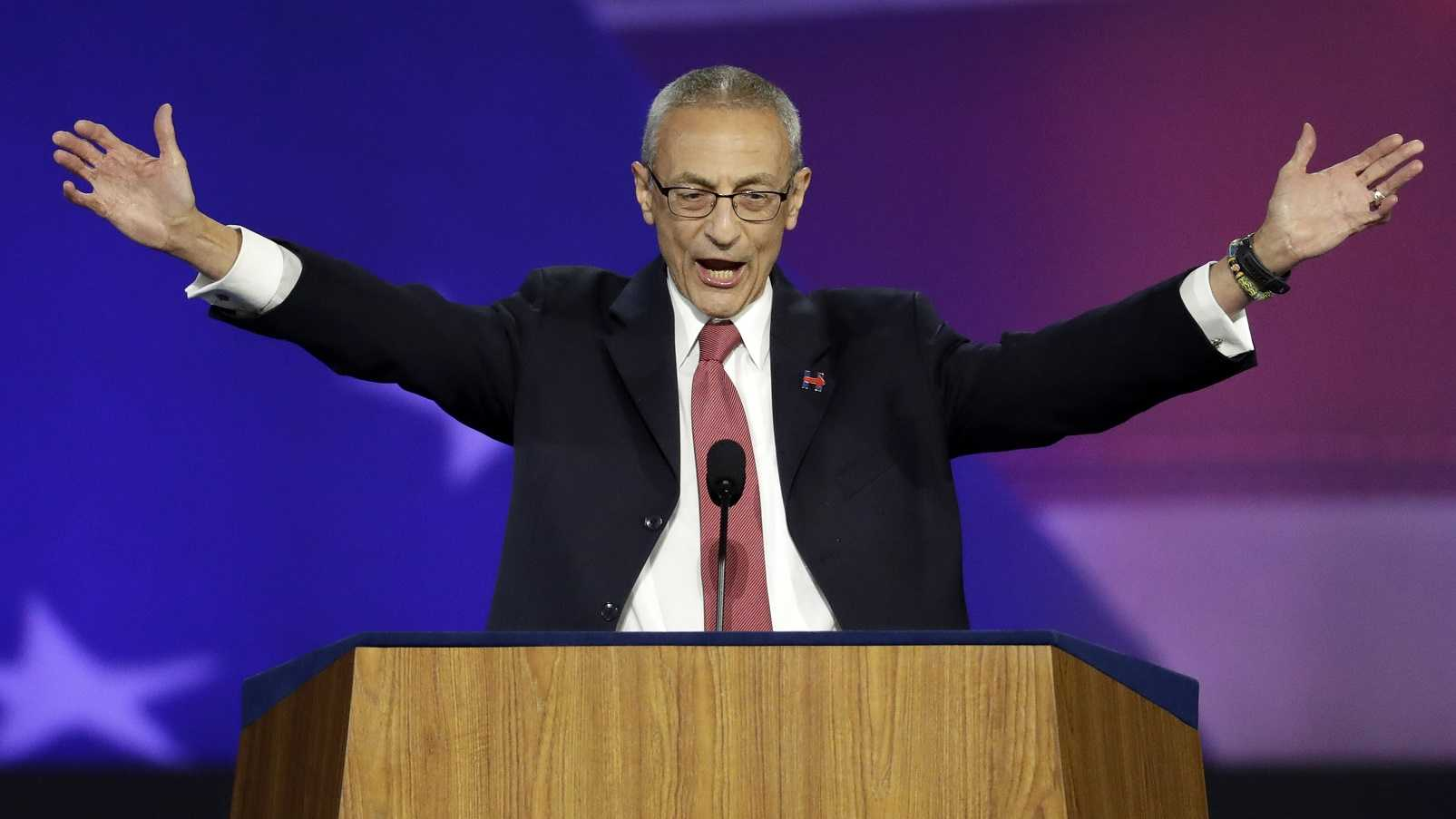 John Podesta, campaign chairman, announces that Democratic presidential nominee Hillary Clinton will not be making an appearance at Jacob Javits Center in New York.