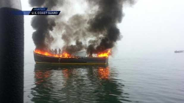 Jonesport Boat Fire