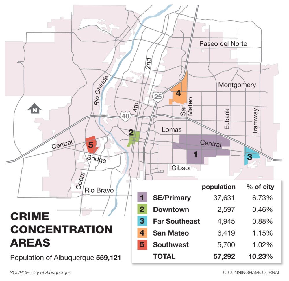 Crime map shows most dangerous areas to live in Albuquerque