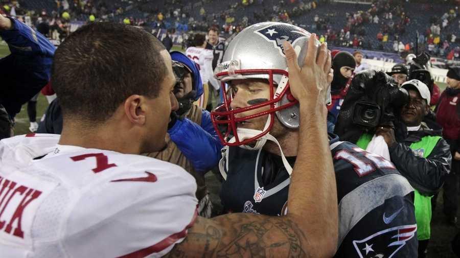 Colin Kaepernick and Tom Brady