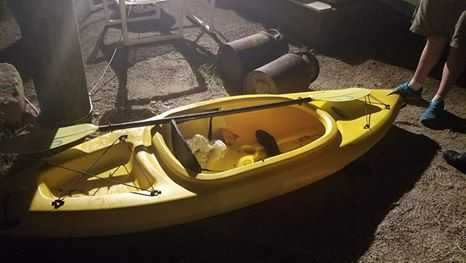 Kayak found adrift