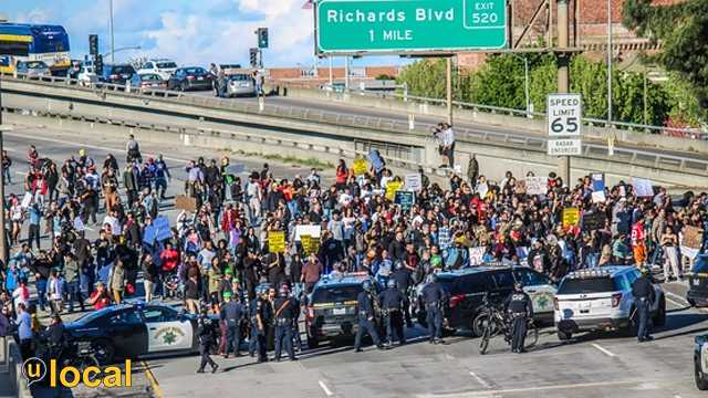 Sacramento protest for Stephon Clark in March 2018
