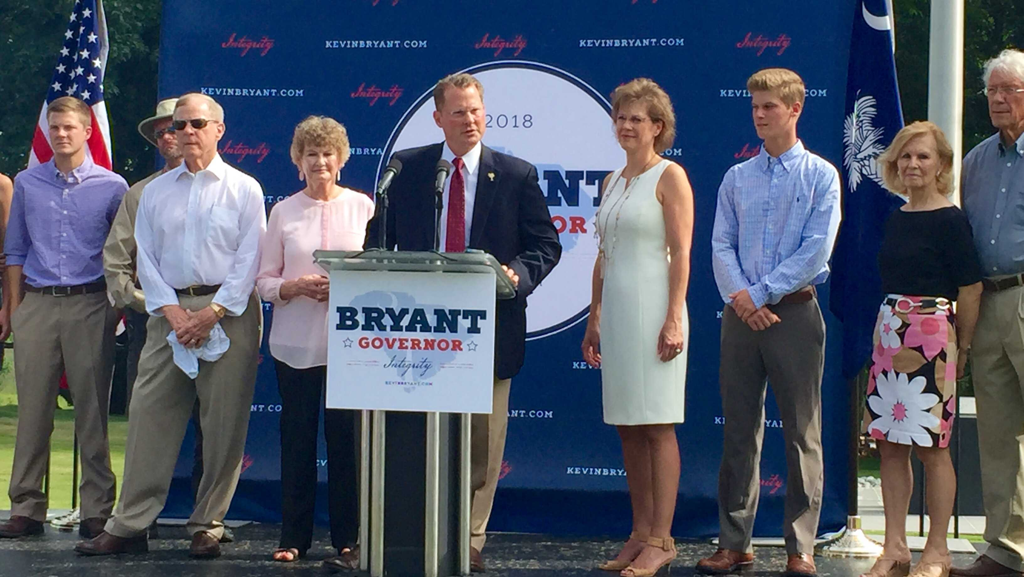 Lt. Gov. Kevin Bryant announcing his bid for SC Governor