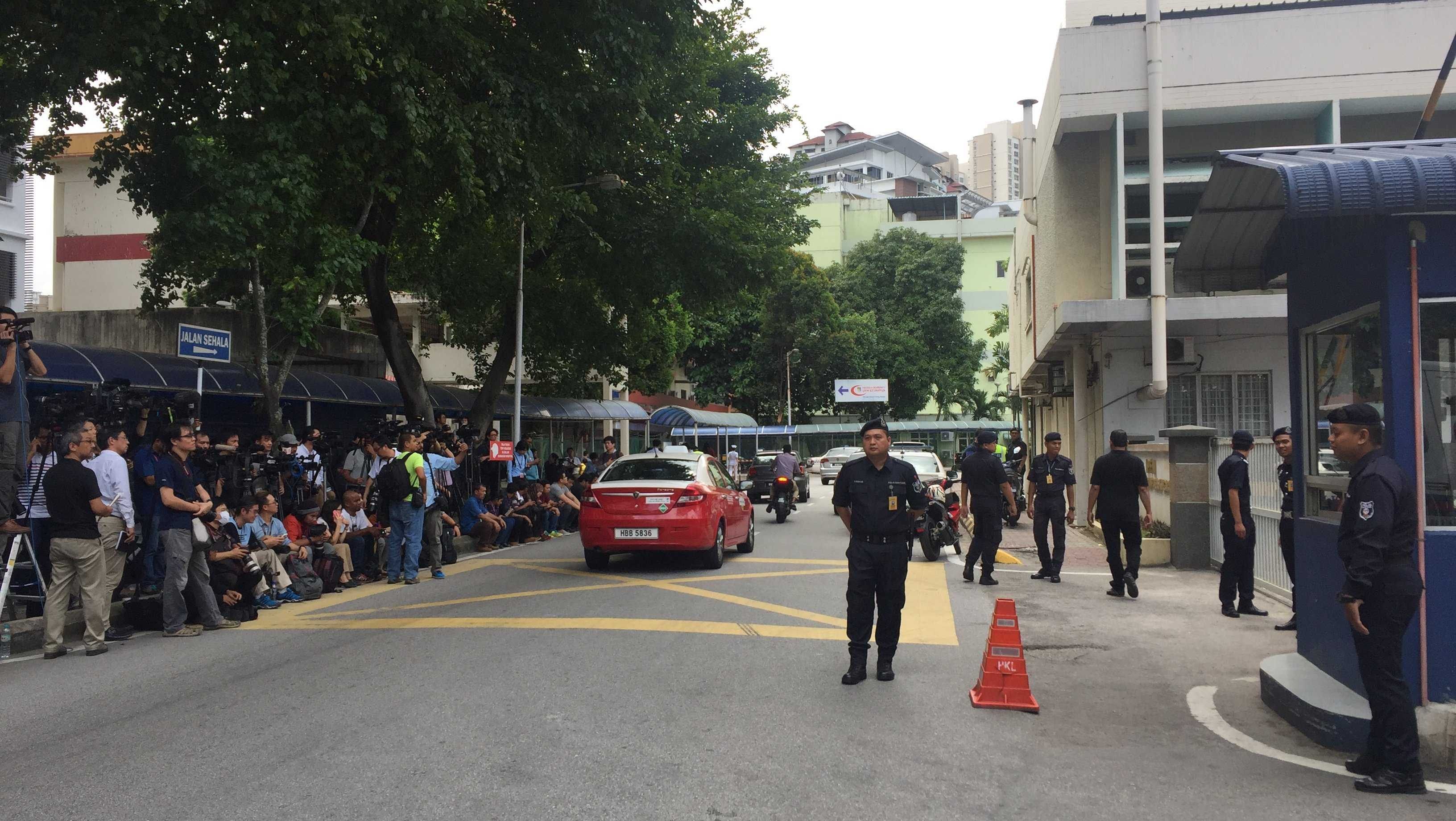 A picture of the scene at the hospital mortuary in Kuala Lumpur, Malaysia, where Kim Jong Un's half-brother, Kim Jong Nam's body is currently located. A woman has been arrested in connection with his murder, Malaysian police said. Investigators are awaiting the results of an autopsy on his body.