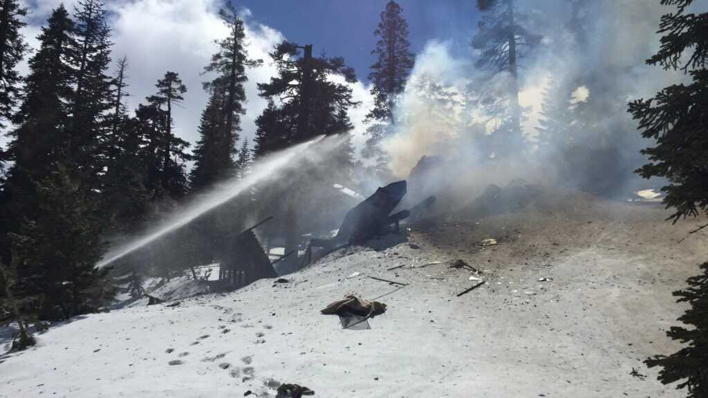 California Highway Patrol investigated a gas explosion at Kirkwood Friday March 31, 2017.