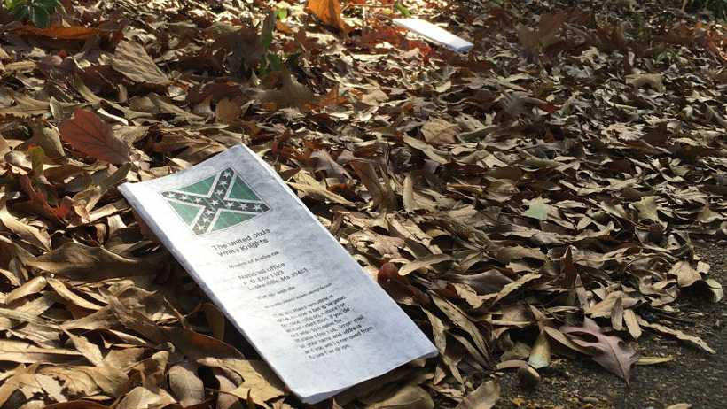 Residents in Birmingham's Glen Iris neighborhood awoke Wednesday to find KKK fliers littering the neighborhood.